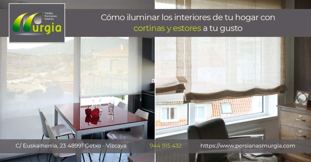 Cómo iluminar interiores con tus cortinas y estores